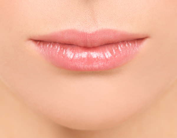 Lips with semi-permanent makeup